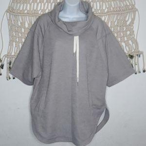 Zella gray oversized cowlneck kimono tunic sweater